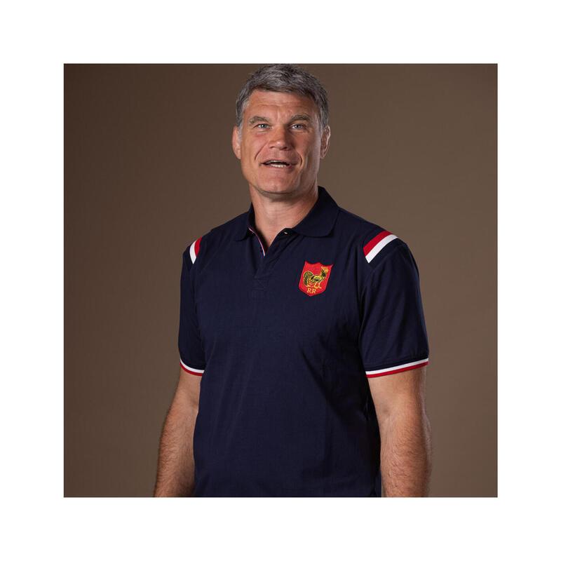 Polo manches courtes de rugby homme Esprit d'Equipe