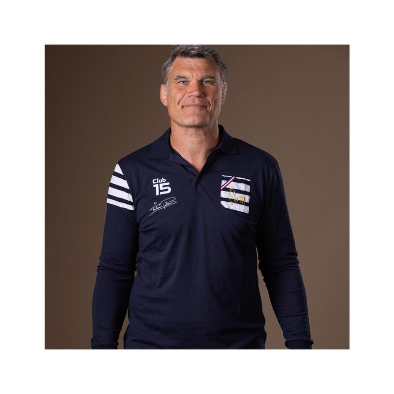 Polo manches longues de rugby homme Club XV by Fabien Pelous