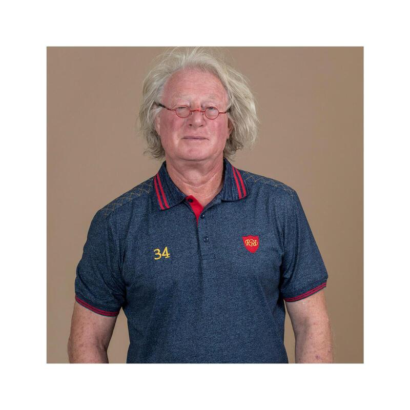 Polo manches courtes de rugby homme - 34 capitanats - Jean-Pierre Rives