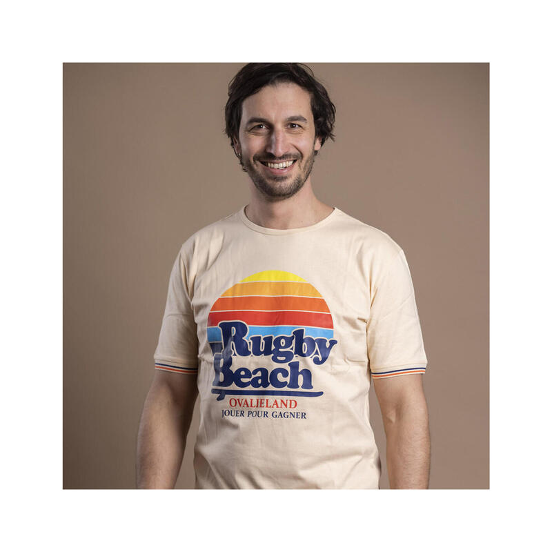 T-shirt manches courtes de rugby homme Rugby Beach
