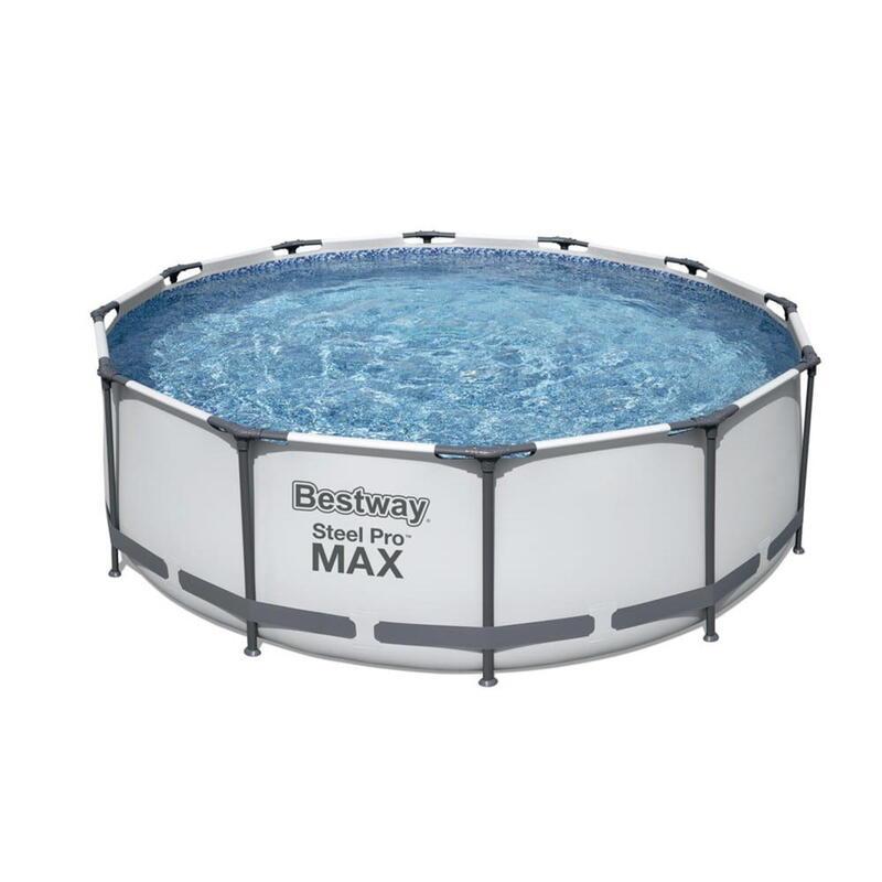 """Bestway Grey 12'X39.5"""" Steel Pro Frame Pool Set"""