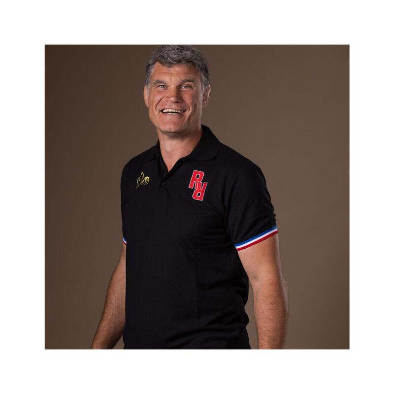 Polo manches courtes de rugby homme - Deuxième Ligne - Fabien Pelous