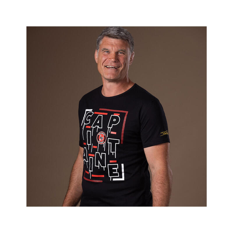 T-shirt manches courtes de rugby homme - Capitaine des Coqs - Fabien Pelous
