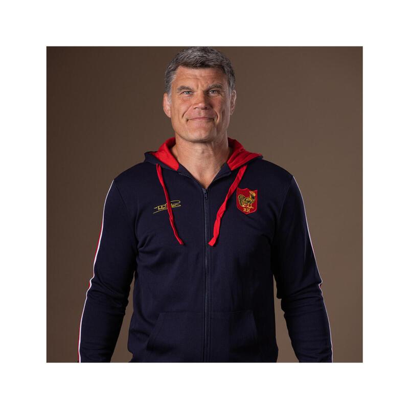 Sweat Zippé de rugby homme - Grand Chelem by Fabien Pelous