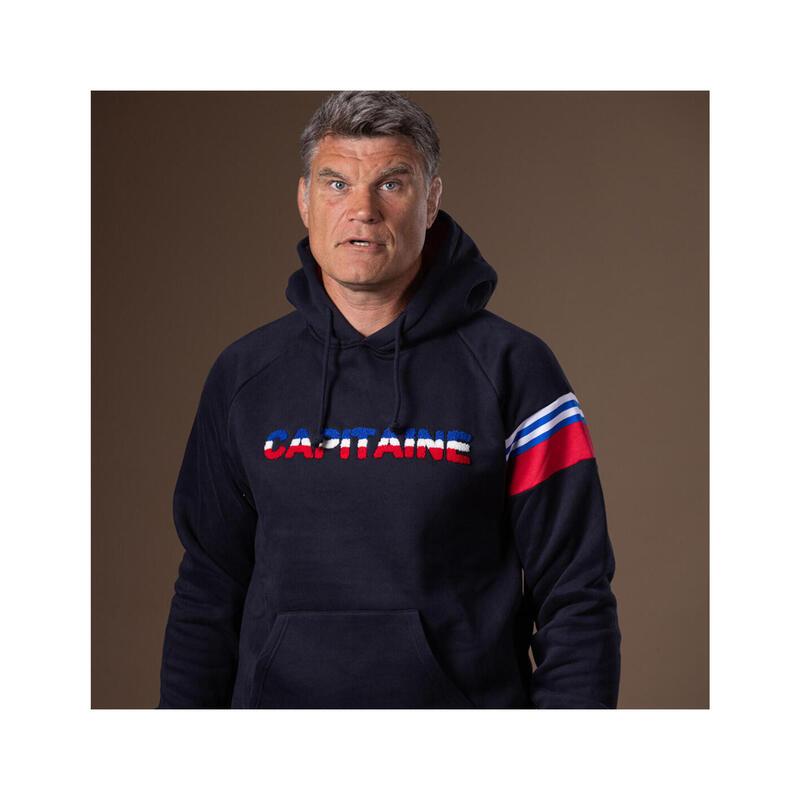 Sweat à capuche de rugby homme Capitaine - Fabien Pelous