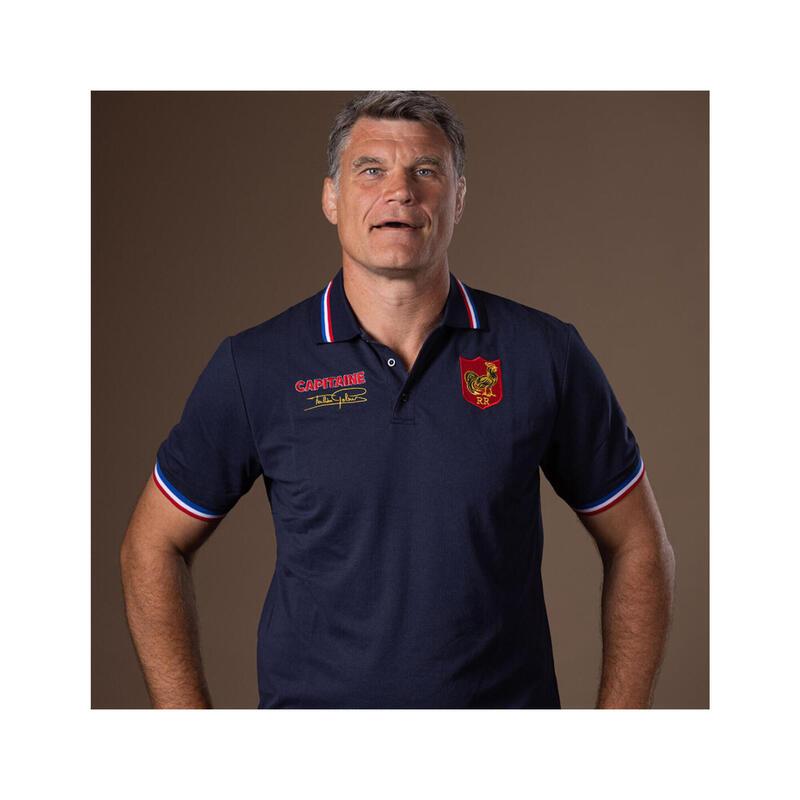 Polo manches courtes de rugby homme - 3 Coupes du Monde - Fabien Pelous