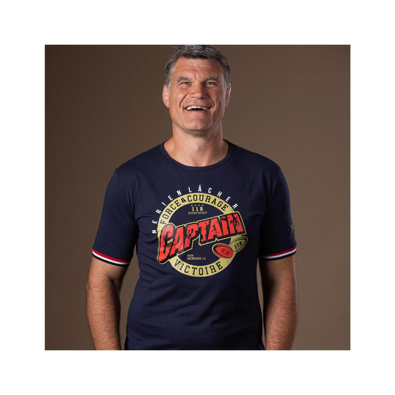 T-shirt manches courtes de rugby homme - Super Captain - Fabien Pelous