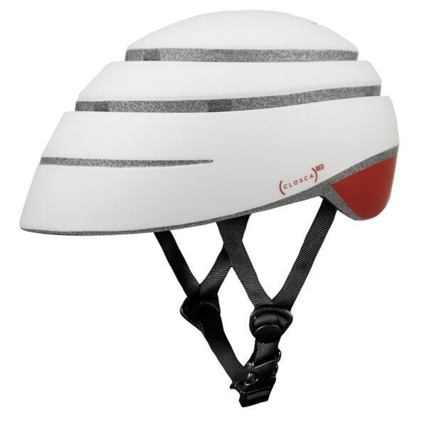 Casco da bicicletta pieghevole (casco Closca LOOP, ROSSO)