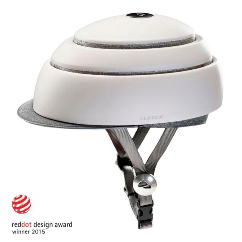 Casco Ciclismo Adulto, Plegable (Classic Helmet) Blanco