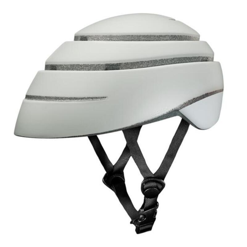 Casque de cycliste pour adultes, pliable (Helmet LOOP) Perle-Blanc