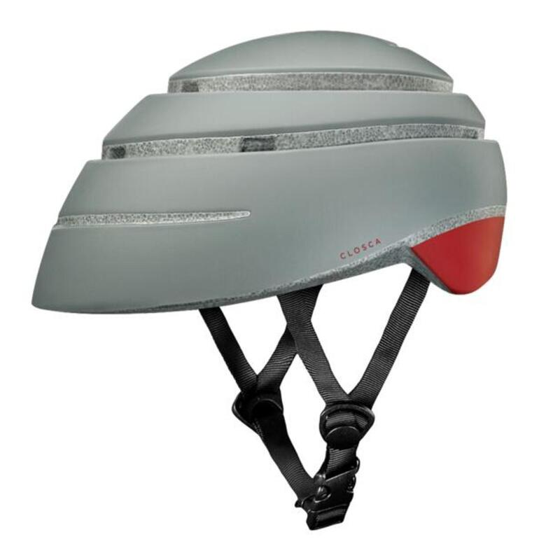 Casco de Bicicleta Plegable (Helmet Loop, Fossil / RED WINE)