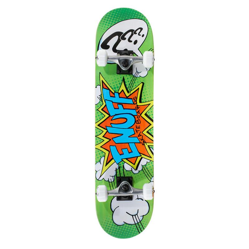 "Enuff POW 7.25""x29.5"" Vert/Blanc Skateboard"