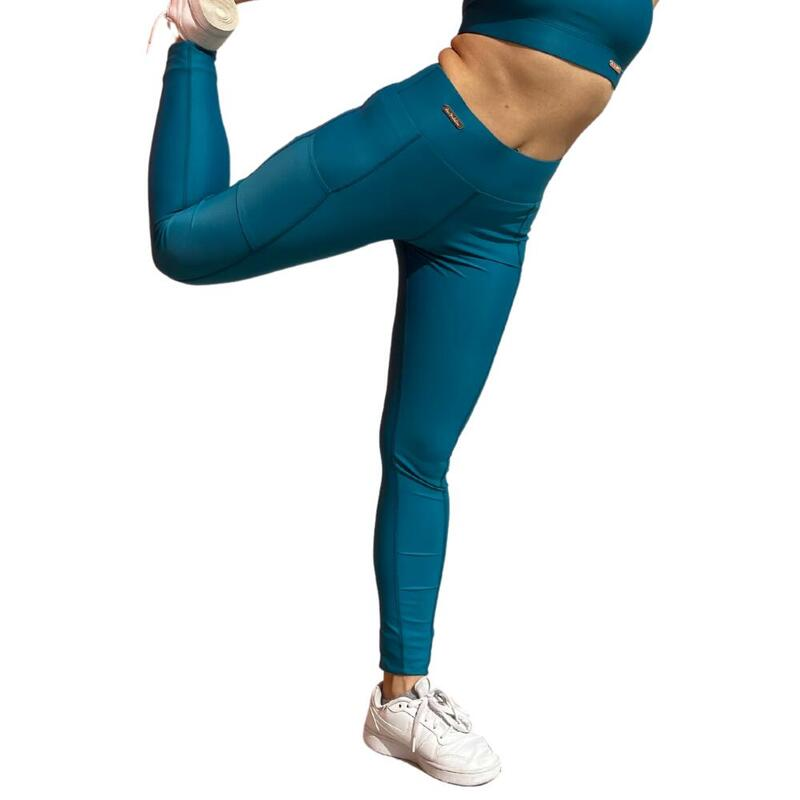 Legging de sport femme Vert canard