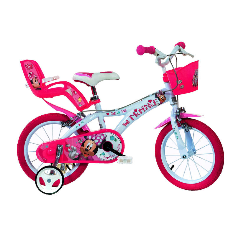 """Minnie 14"""" Bikes with Removable Stabilisers"""