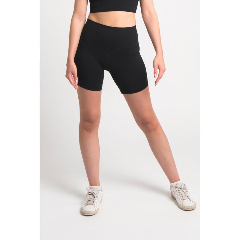 Short Fitness Mi-Long - Femme - Noir
