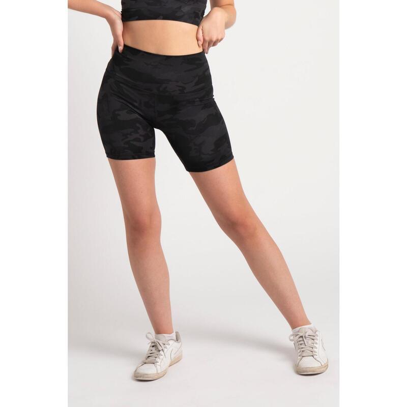 Short Fitness Mi-Long - Femme - Camo