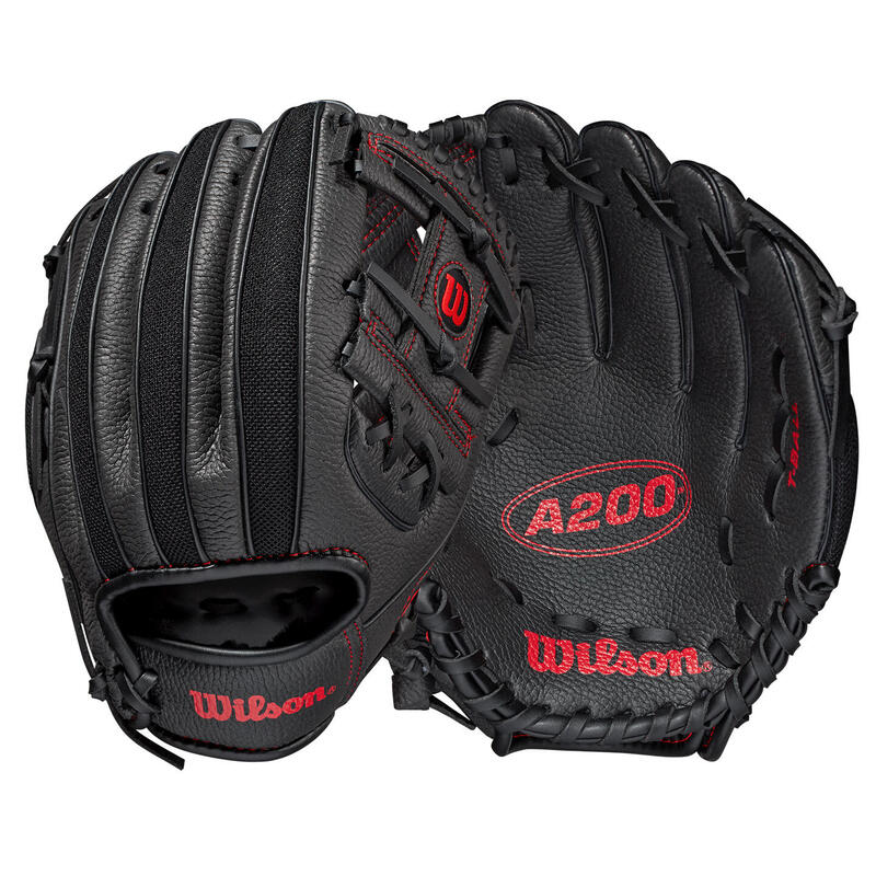 Wilson A200 Junior 10in Baseball Glove - Blk / Rd