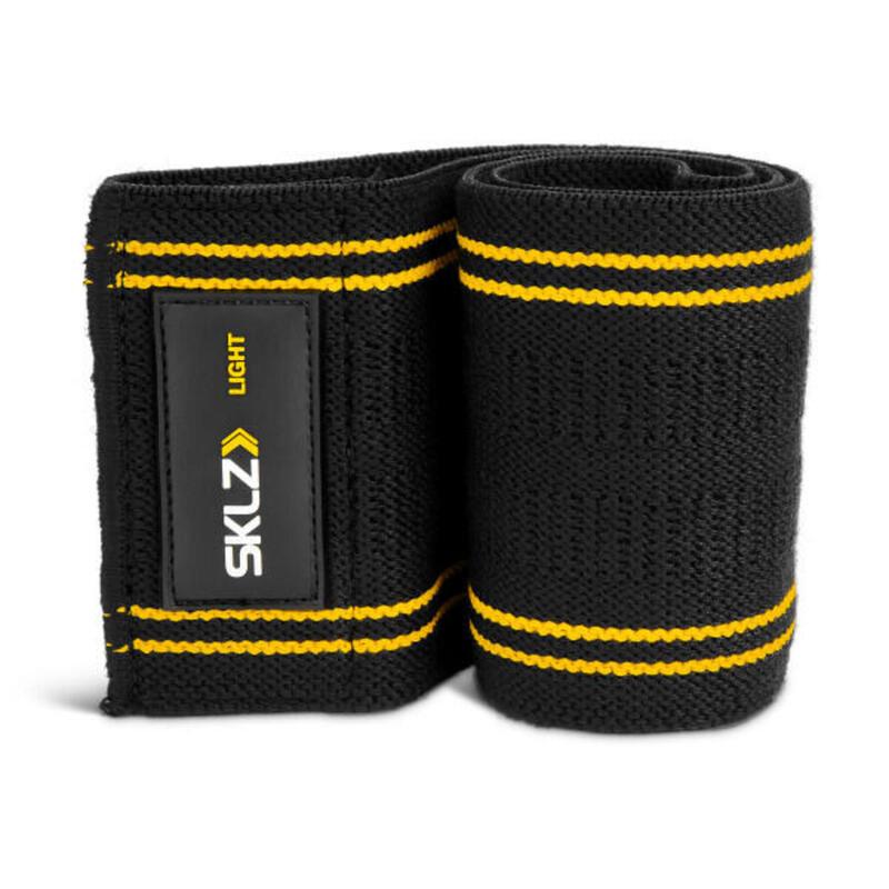 Fasce di resistenza SKLZ Pro Hip Knit Heavy, nero / grigio, ad alta intensità