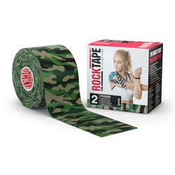 RockTape - (5cm x 5m) - Camuflagem Verde
