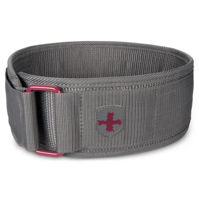 Cintura da sollevamento pesi in nylon da donna - altezza 10 cm - M - Viola