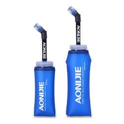 SD13 350ml / 600ml Softflask Long Straw Foldable Soft Water Bottle