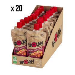 Pack x20 Purées nutritionnelles Patate douce-Carotte-Poivre Timut