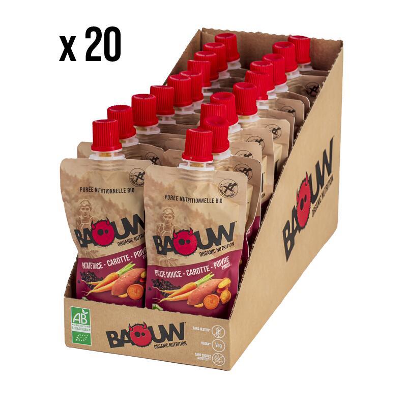 Purées nutritionnelles Patate douce-Carotte-Poivre Timut Pack x20