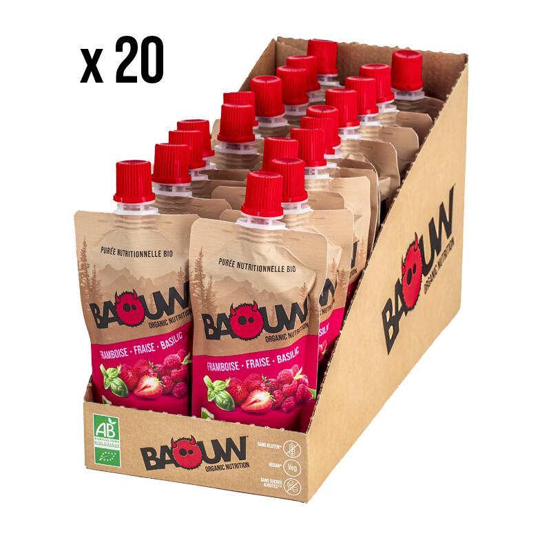 Purées nutritionnelles Framboise-Fraise-Basilic Pack x20