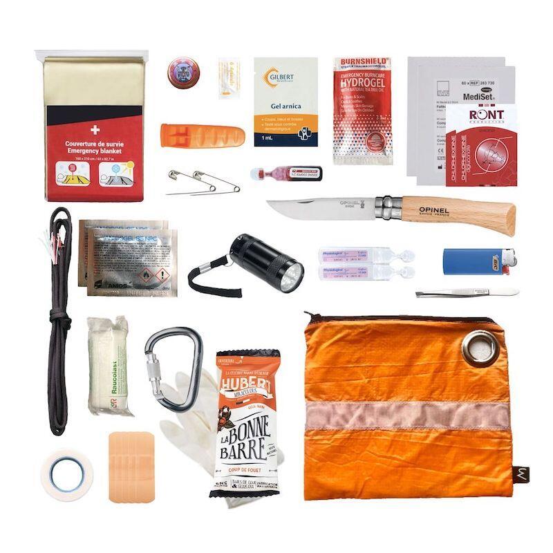 Kit de survie randonnée - orange