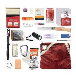 Kit de survie randonnée - rouge