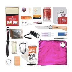 Kit de survie randonnée - rose