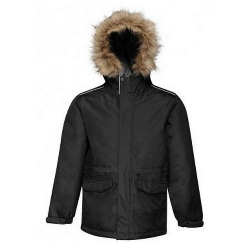 Kids Cadet Insulated Parka Jacket (Black/Seal Grey)