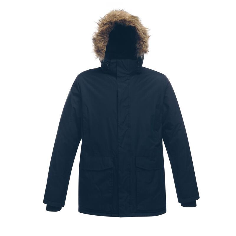 Professional Mens Ice Storm Waterproof Winter Parka Jacket (Navy)