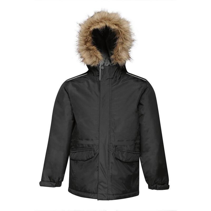 Childrens Cadet Parka Jacket (Black)