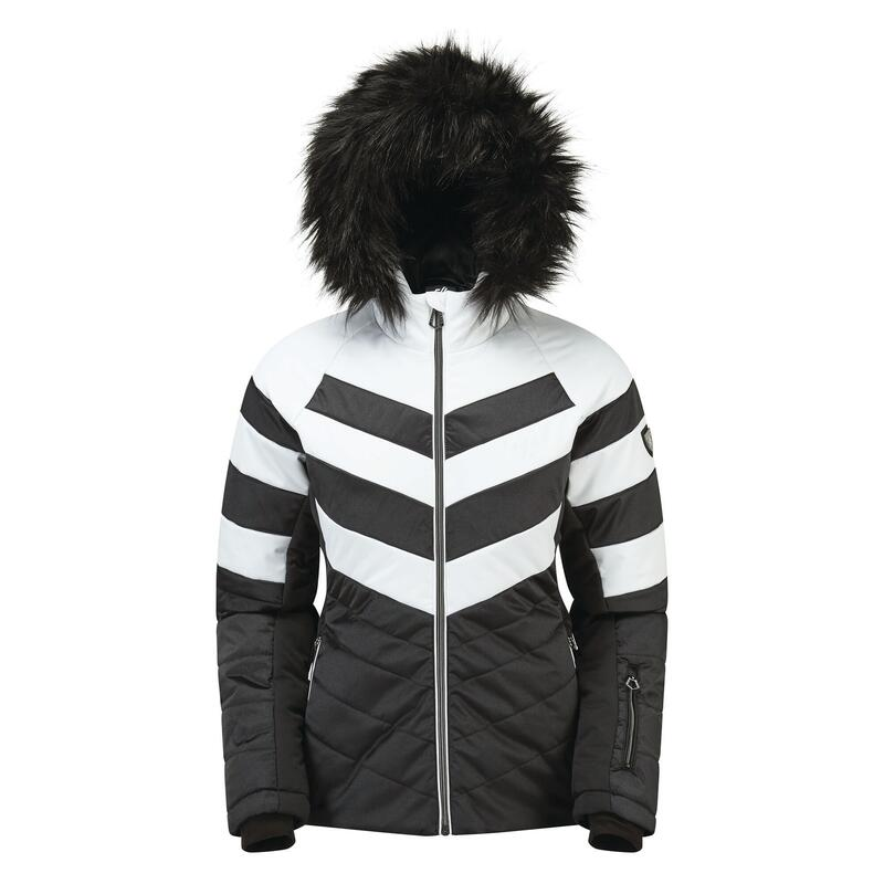Womens/Ladies Dazzling Ski Jacket (Black/White)