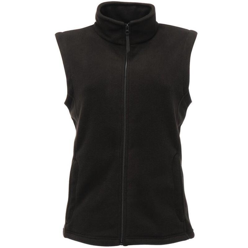 Womens/Ladies Micro Fleece Bodywarmer / Gilet (Black)