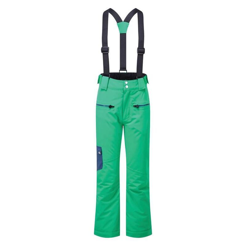 Childrens/Kids Timeout II Ski Trousers (Vivid Green/Dark Denim)