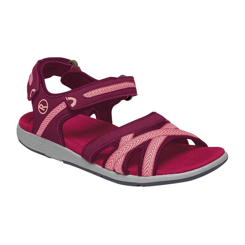 Womens/Ladies Santa Clara Sandals (Beetroot/Mellow Rose)