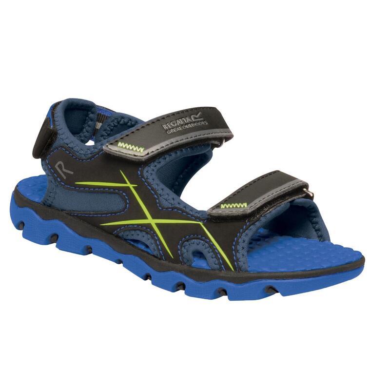 Childrens/Kids Kota Drift Sandals (Nautical Blue/Electric Lime)