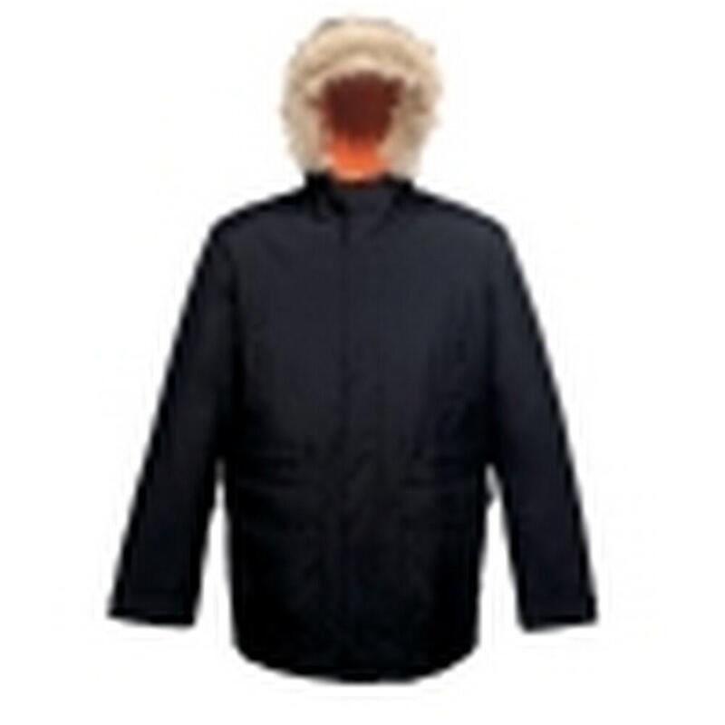 Professional Mens Classic Parka Jacket (Black)