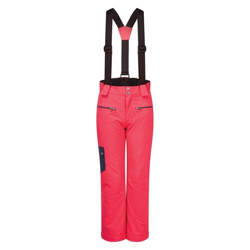 Childrens/Kids Timeout II Ski Trousers (Neon Pink/Dark Denim)
