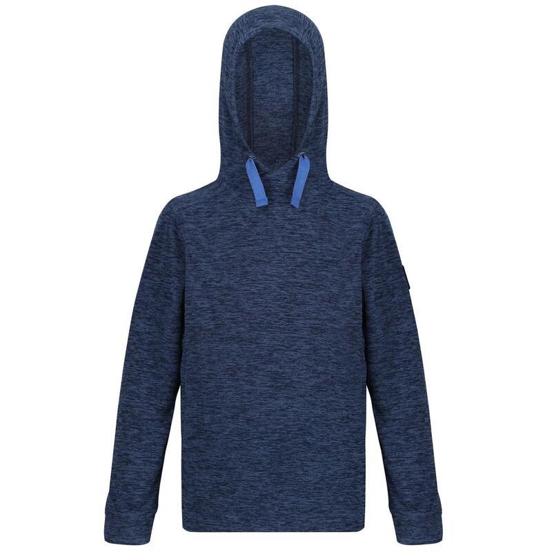 Childrens/Kids Kade Lightweight Hooded Fleece (Navy Marl)
