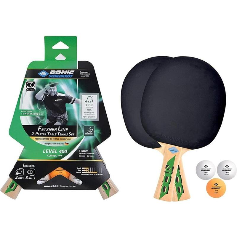 Donic-Schildkrot Fetzner 400 FSC Table Tennis Paddle And Balls Set
