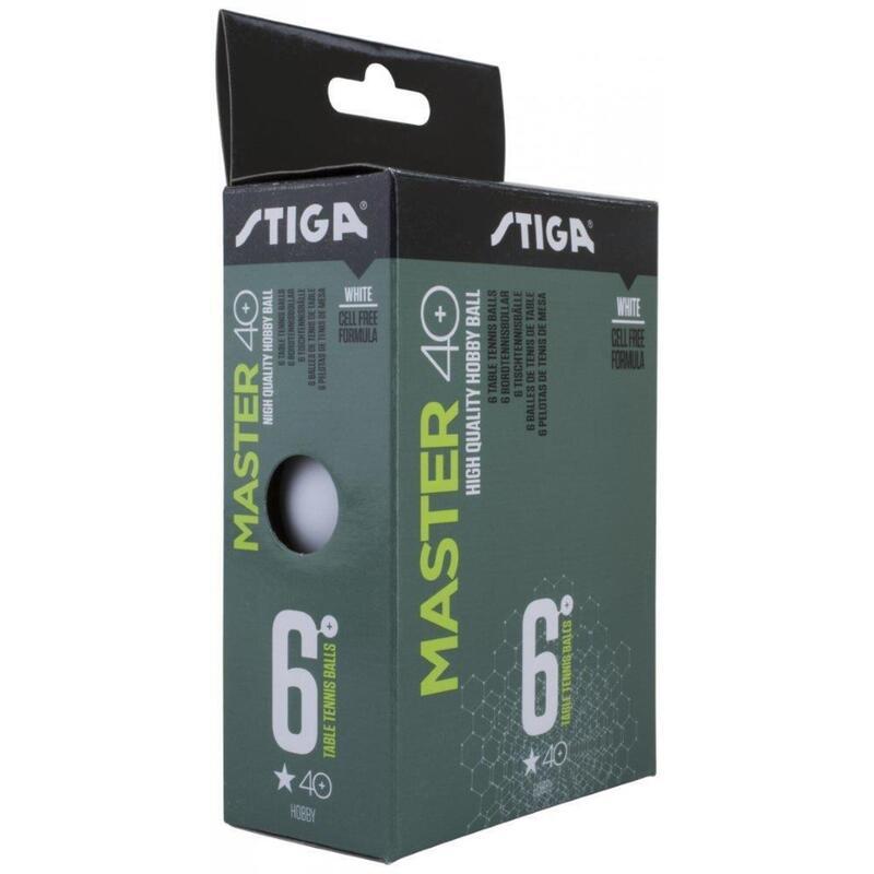 Stiga White 6 pack 1 Star Master Plastic Table Tennis Balls