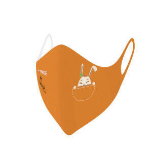 Máscaras de protección lavables covid-19 conejo Baby naranja