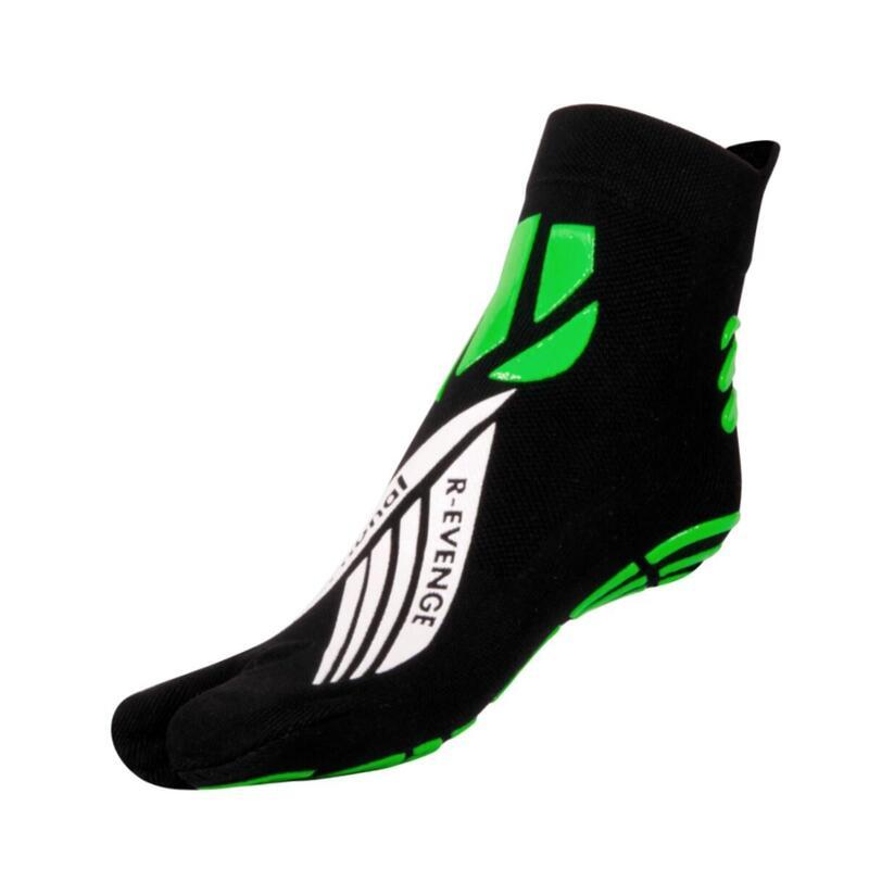 Chaussettes  fonctionnelles 1 finger adulte Fitness anti-dérapantes noir vert