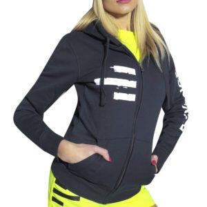 Sweatshirt femme fitness et free time bleu