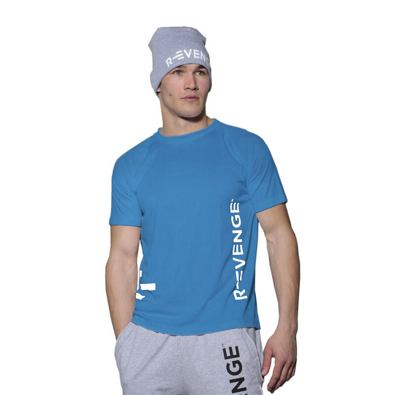 T-shirt manches courtes homme Fitness Turquoise