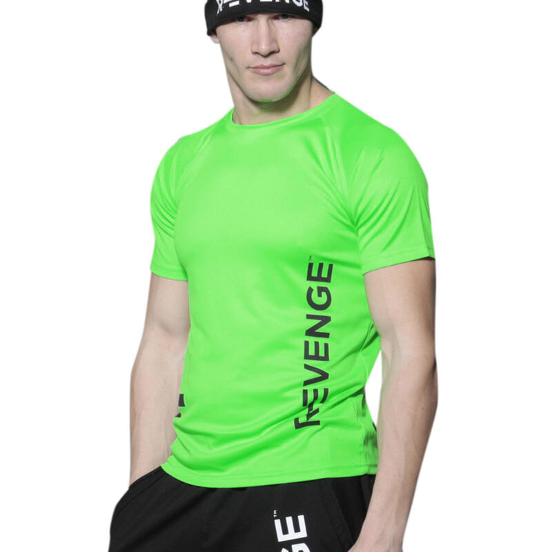 T-shirt manches courtes homme Fitness Vert