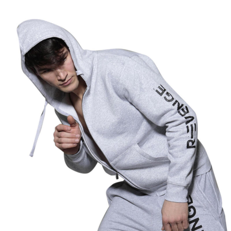Sweatshirt homme fitness et free time gris